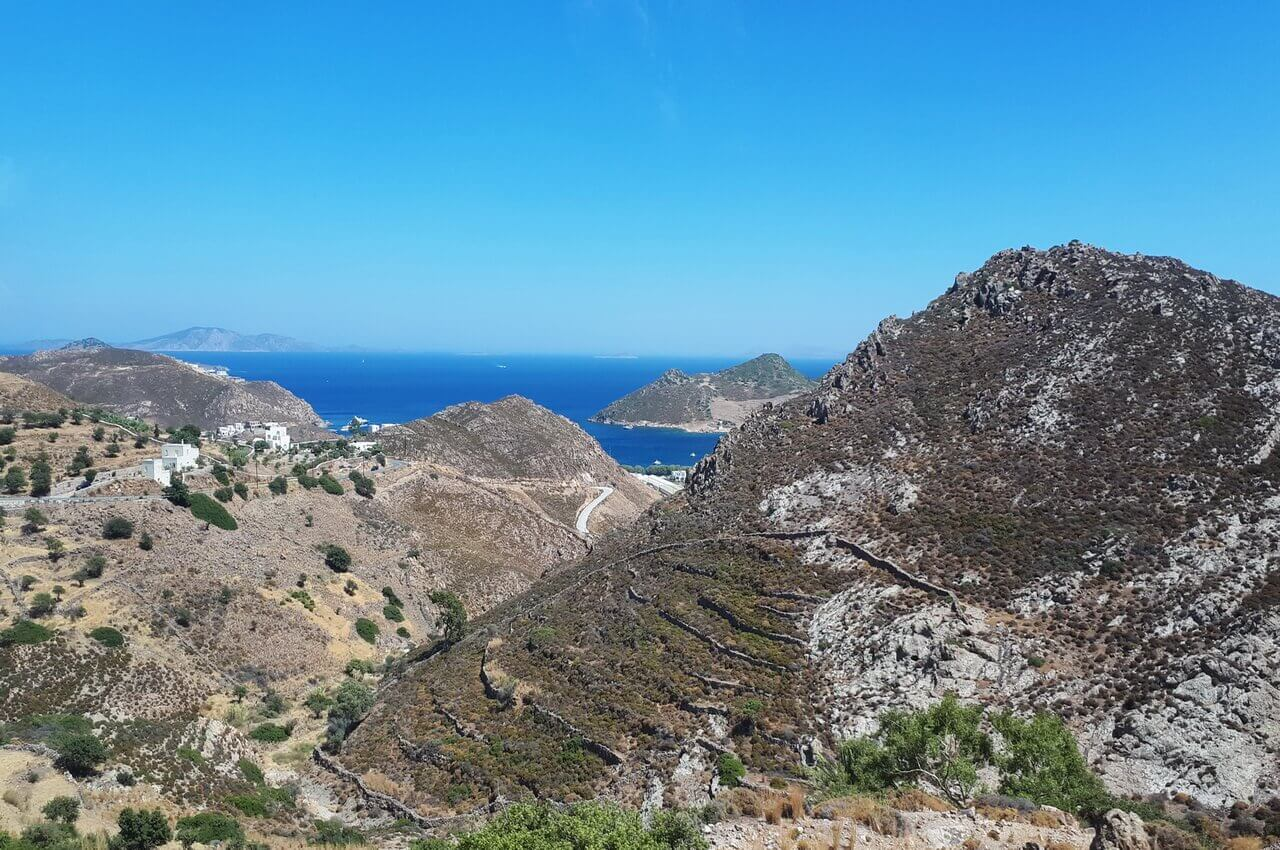 The hills in Patmos Island