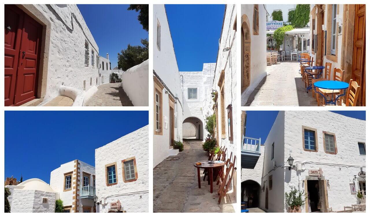 Chora alleys and restaurants