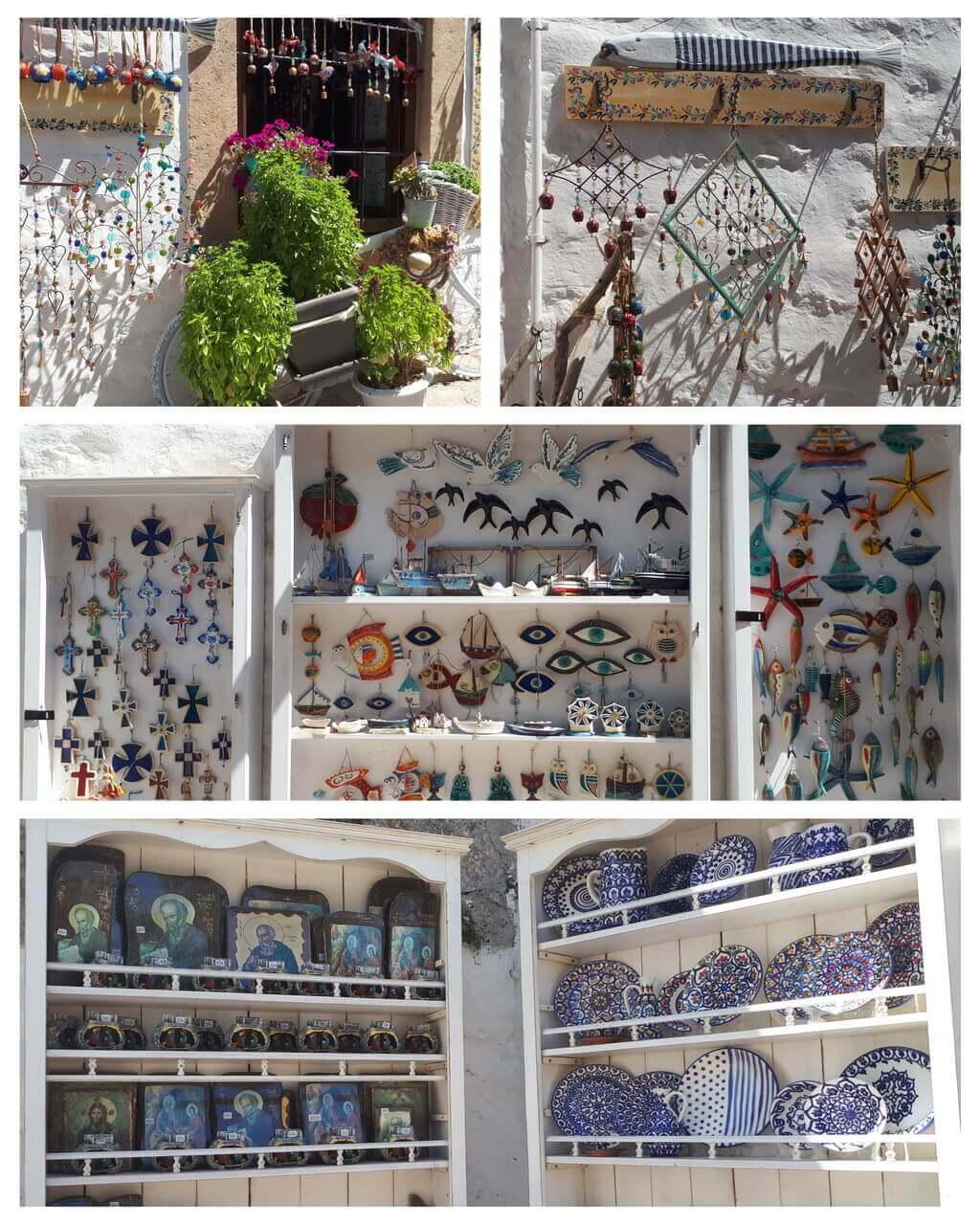 Chora, shops with souvenirs