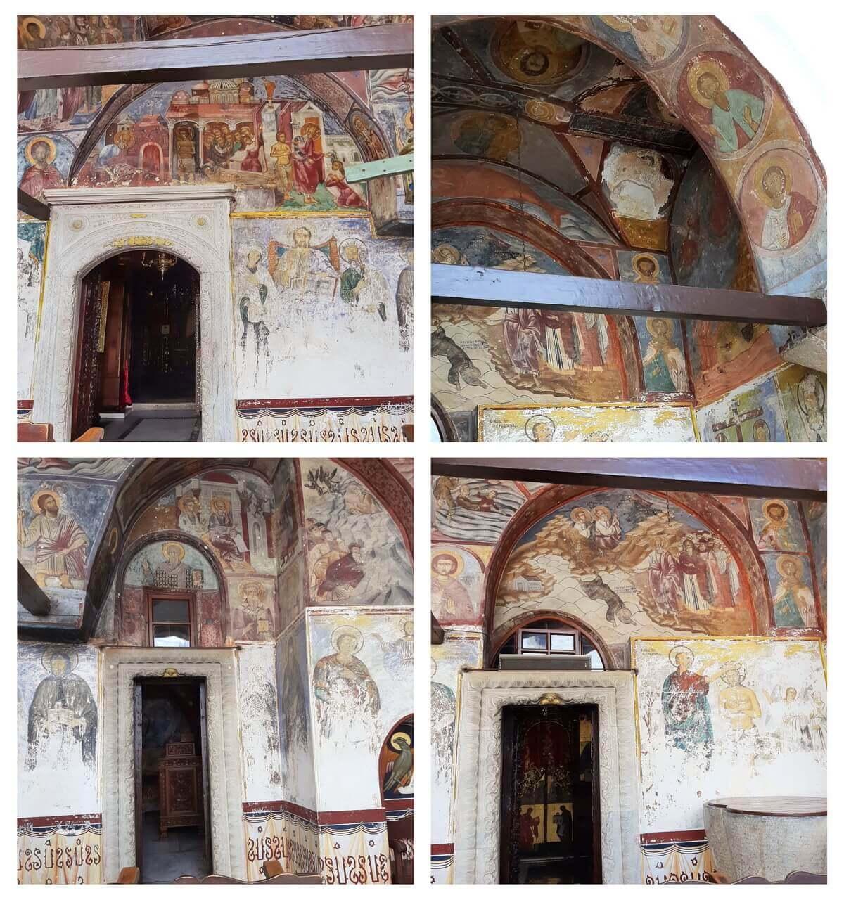 Frescoes in the St John monastery