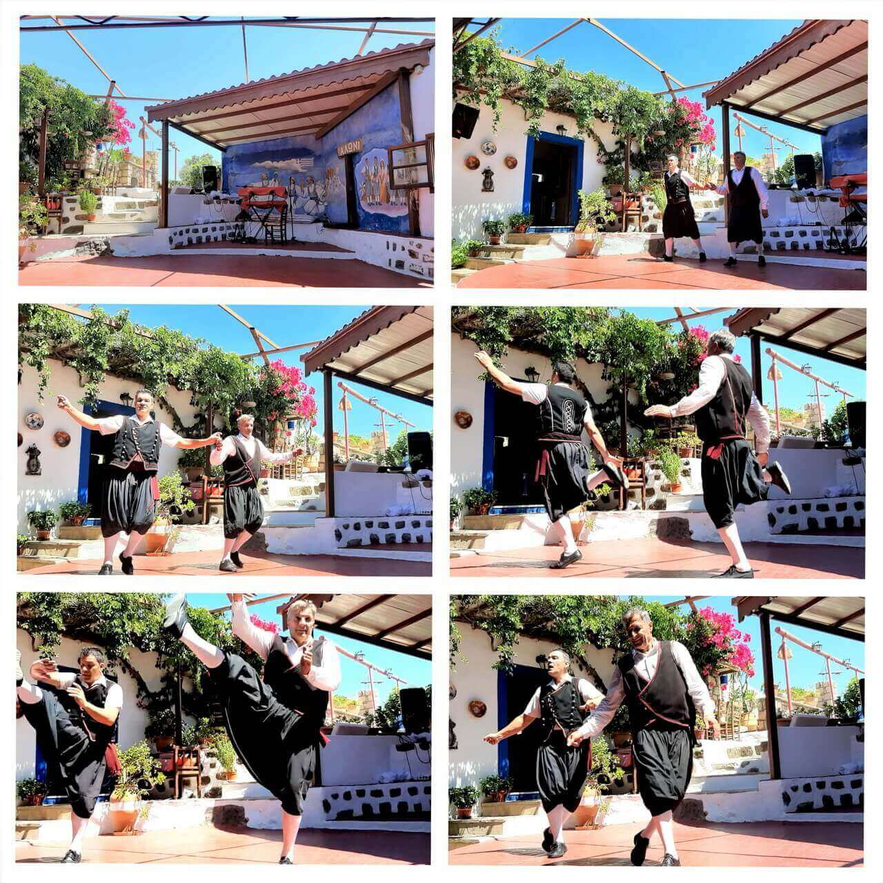 Greek traditional dance in the Aloni restaurant