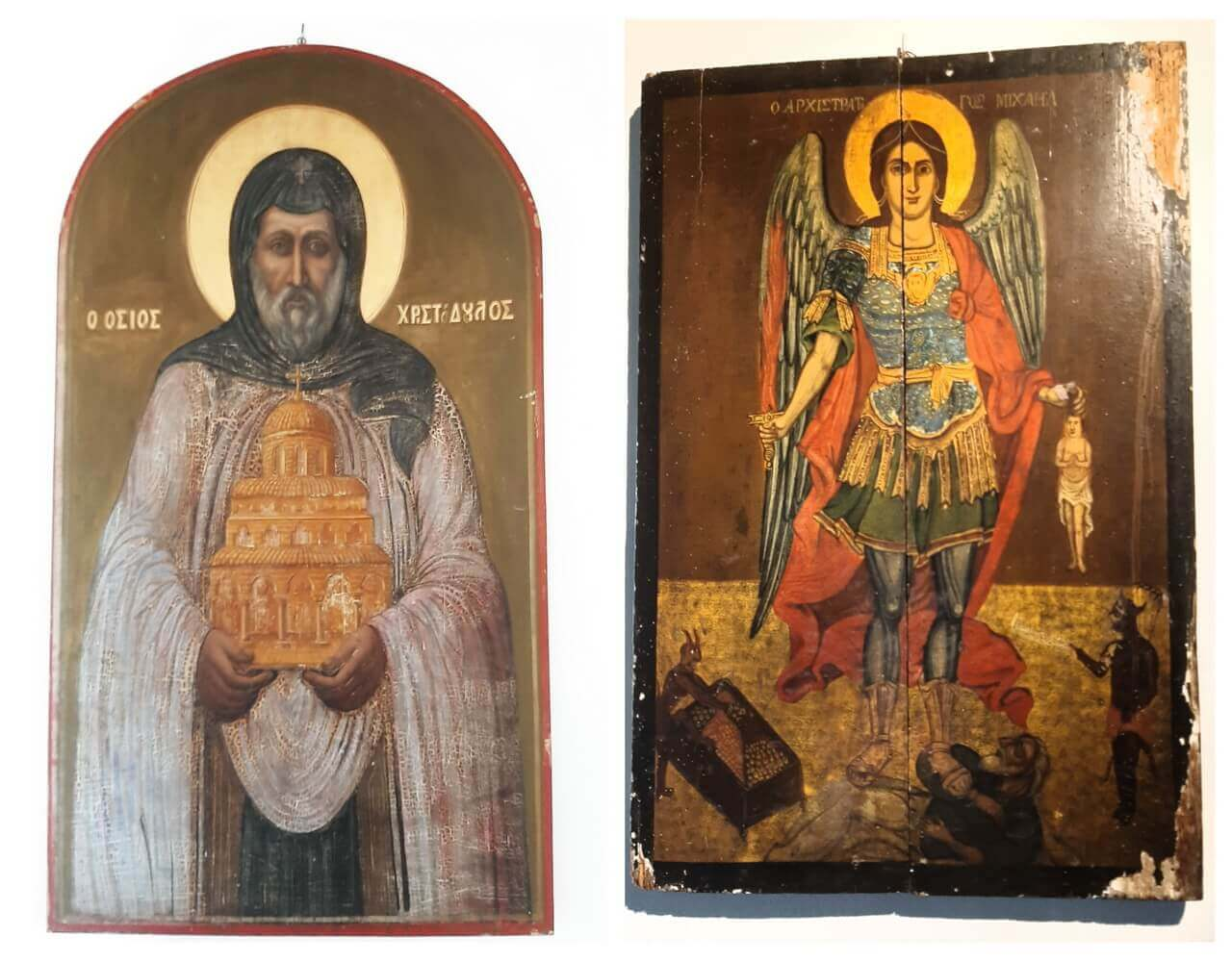 Icons of Christodopoulos and Archangel Michael