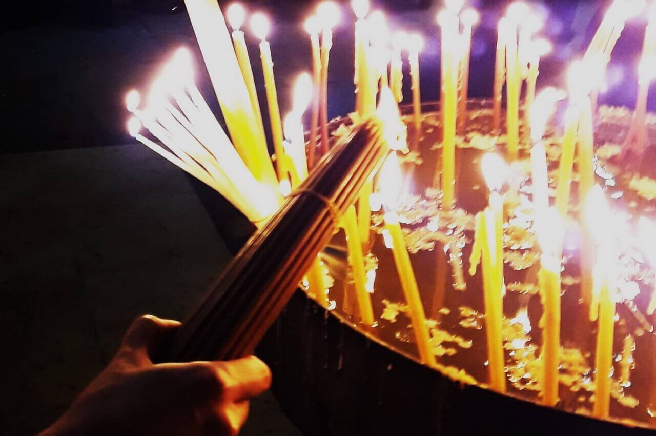 Pilgrim candles, The Church of the Holy Sepulchre