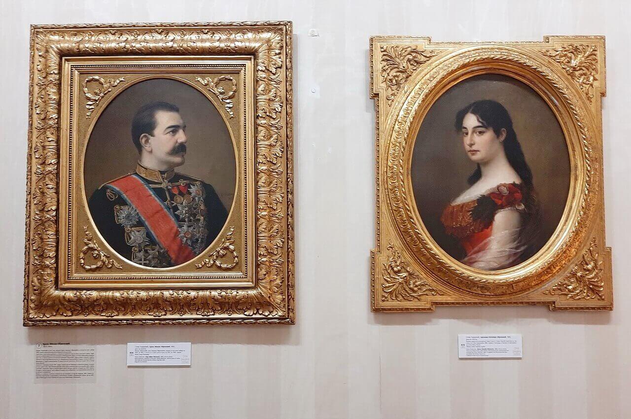 King Milan and Queen Natalia Obrenović, portraits, exhibition