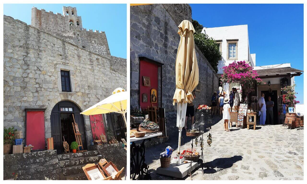 Shops with souvenirs, close to the St John Monastery