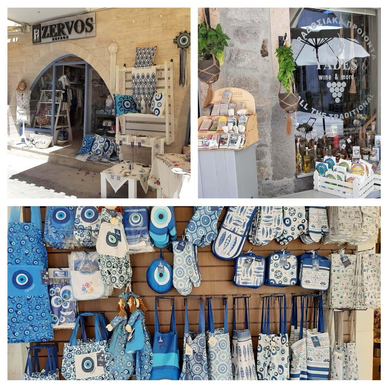 Shops in Skala, Patmos