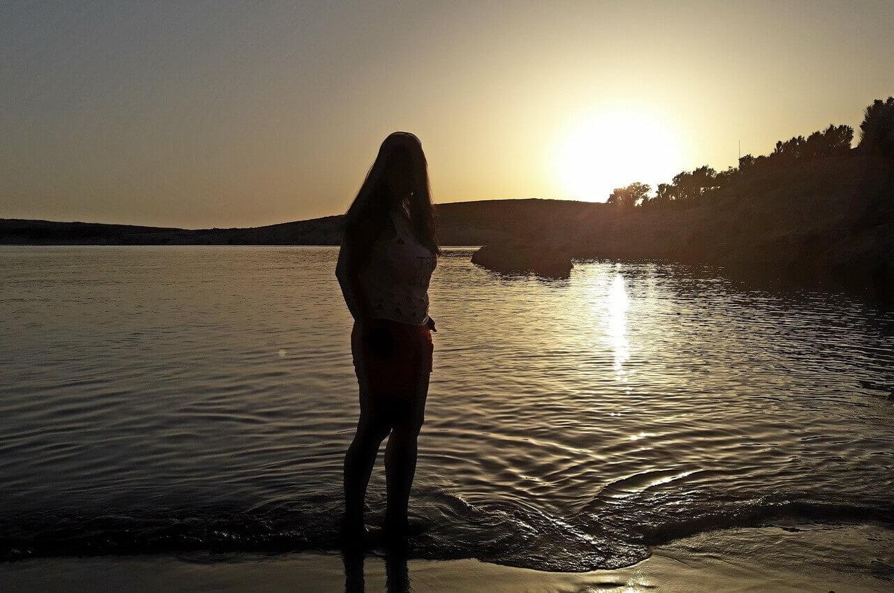 Sunset on Mikro Faranaki beach, Limnos