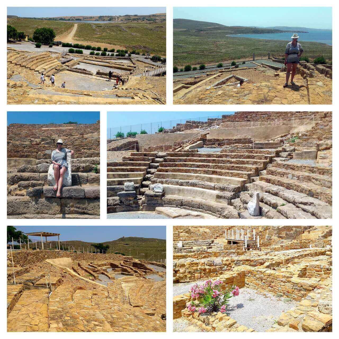 Ancient theatre in Hefaistia city