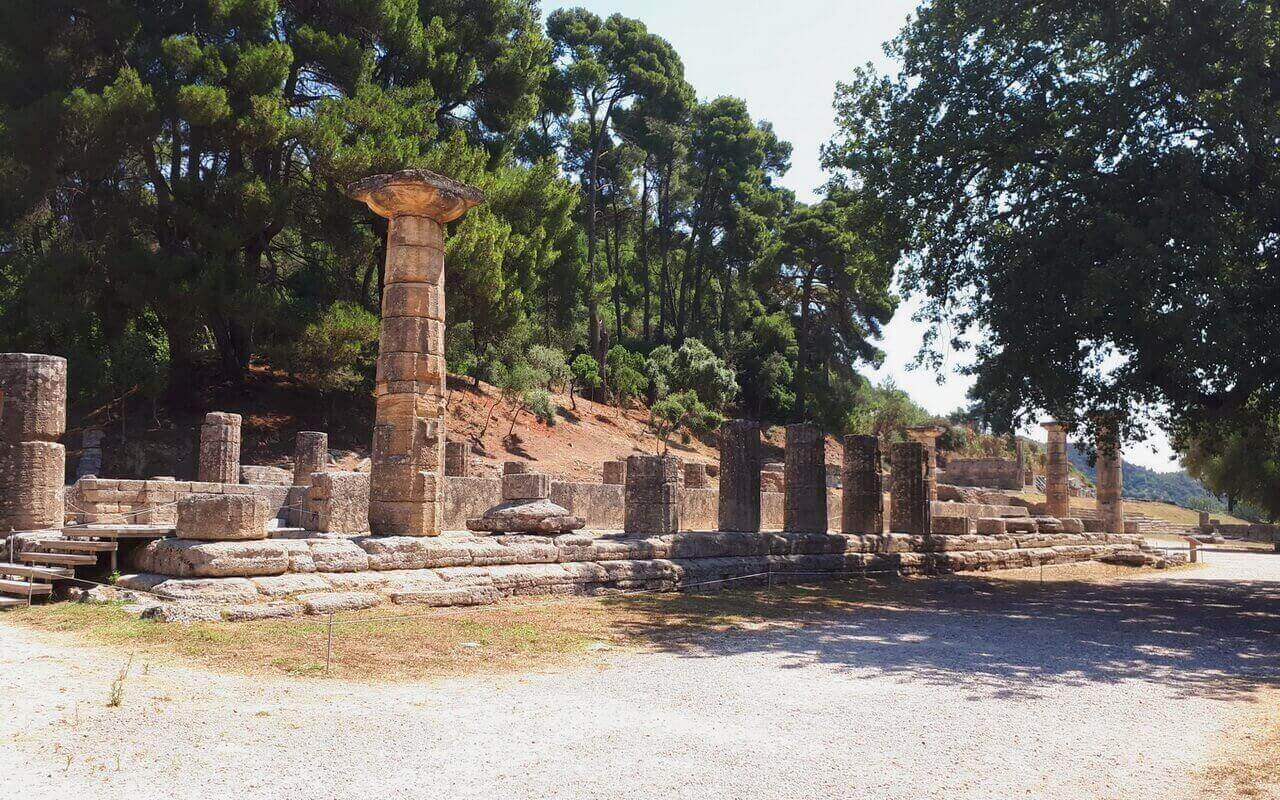 The Temple of Hera, Olympia