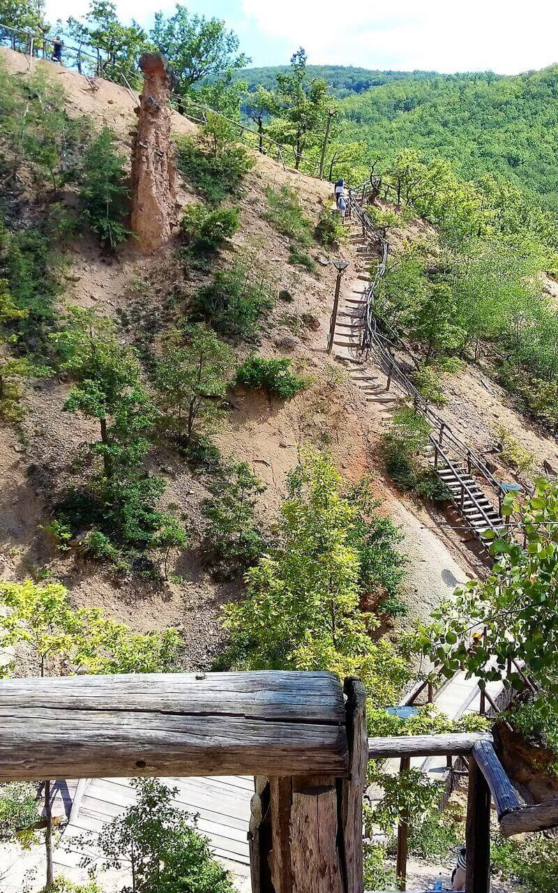 Wooden stairs, the Devil's town