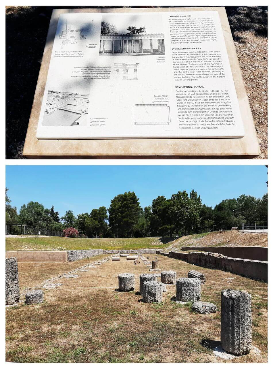Gymnasium in ancient Olympia