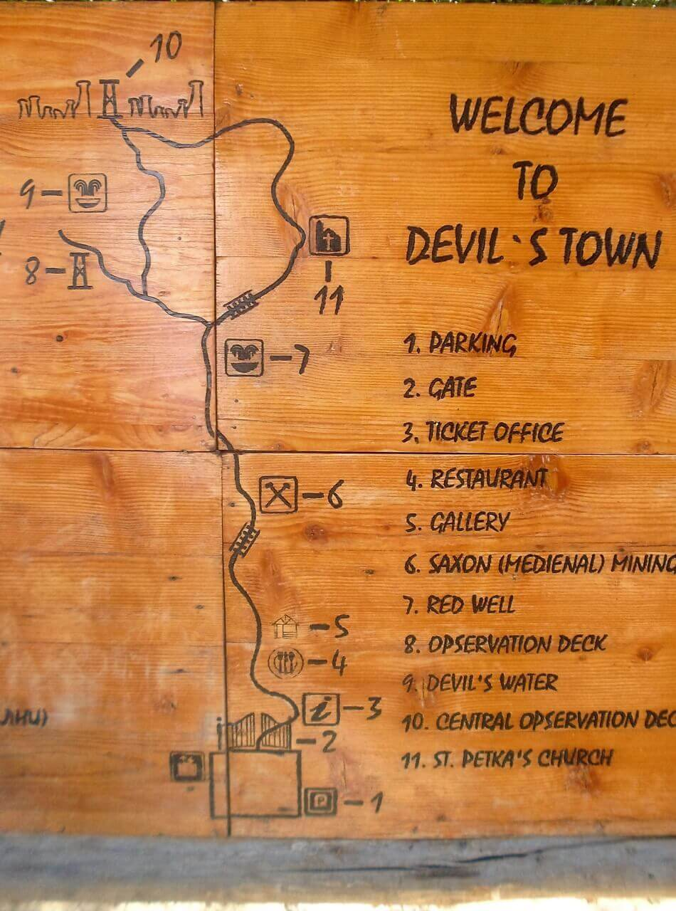 Map of the Devil s Town, Đavolja varoš