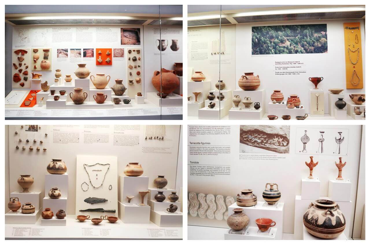 Pottery, Neolithic and Hellenic periods, Olympia Archeological Museum