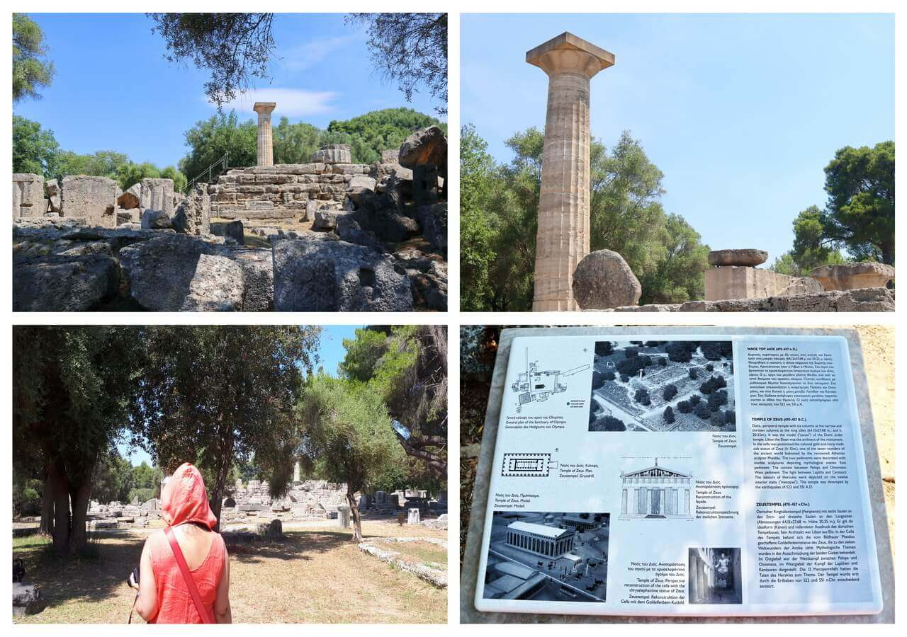 The Temple of Zeus in ancient Olympia