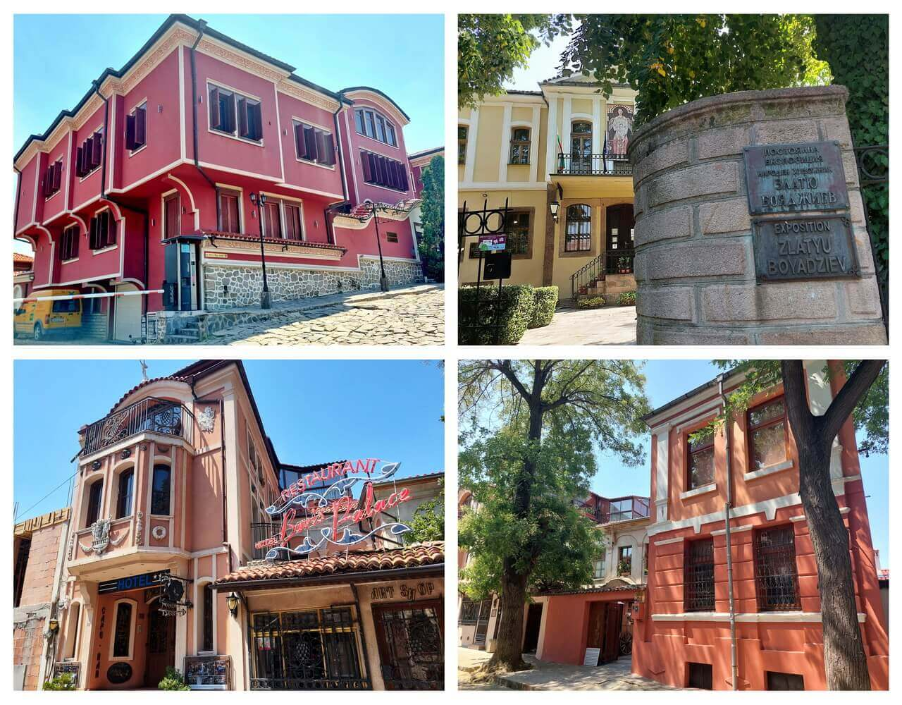 Colourful houses in the Old Town of Plovdiv