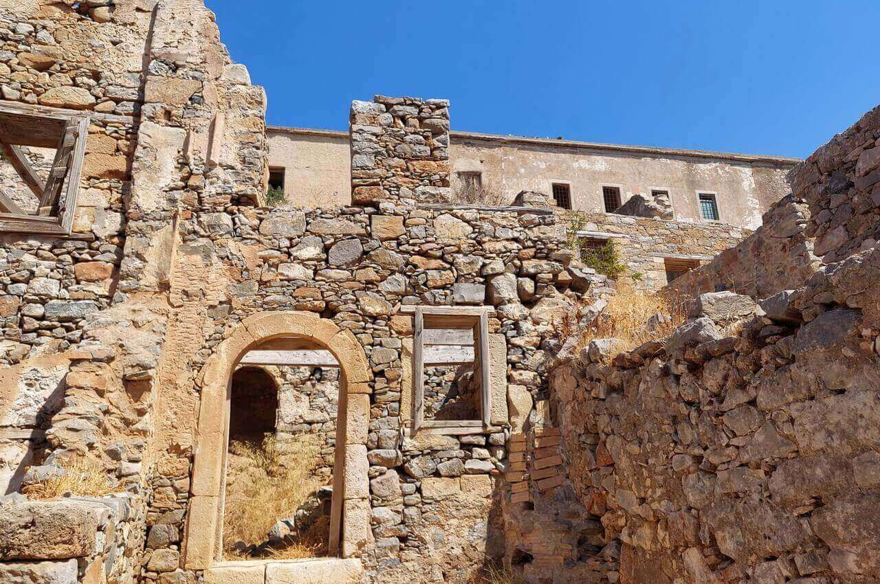 Abounded buildings in Spinalonga