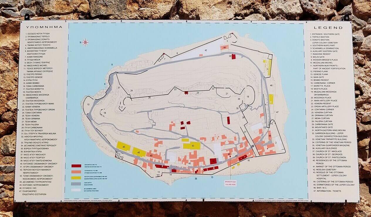 Map of Spinalonga