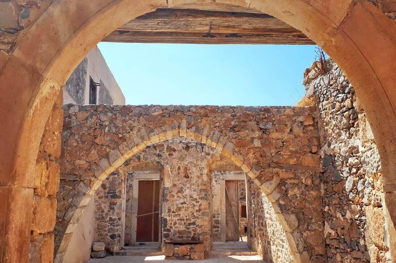 Remains of houses, Spinalonga