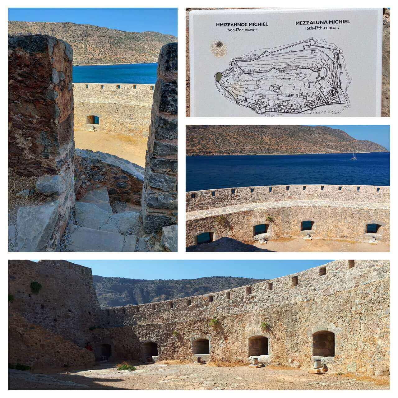 Spinalonga, Mezzaluna Micheilis bastion