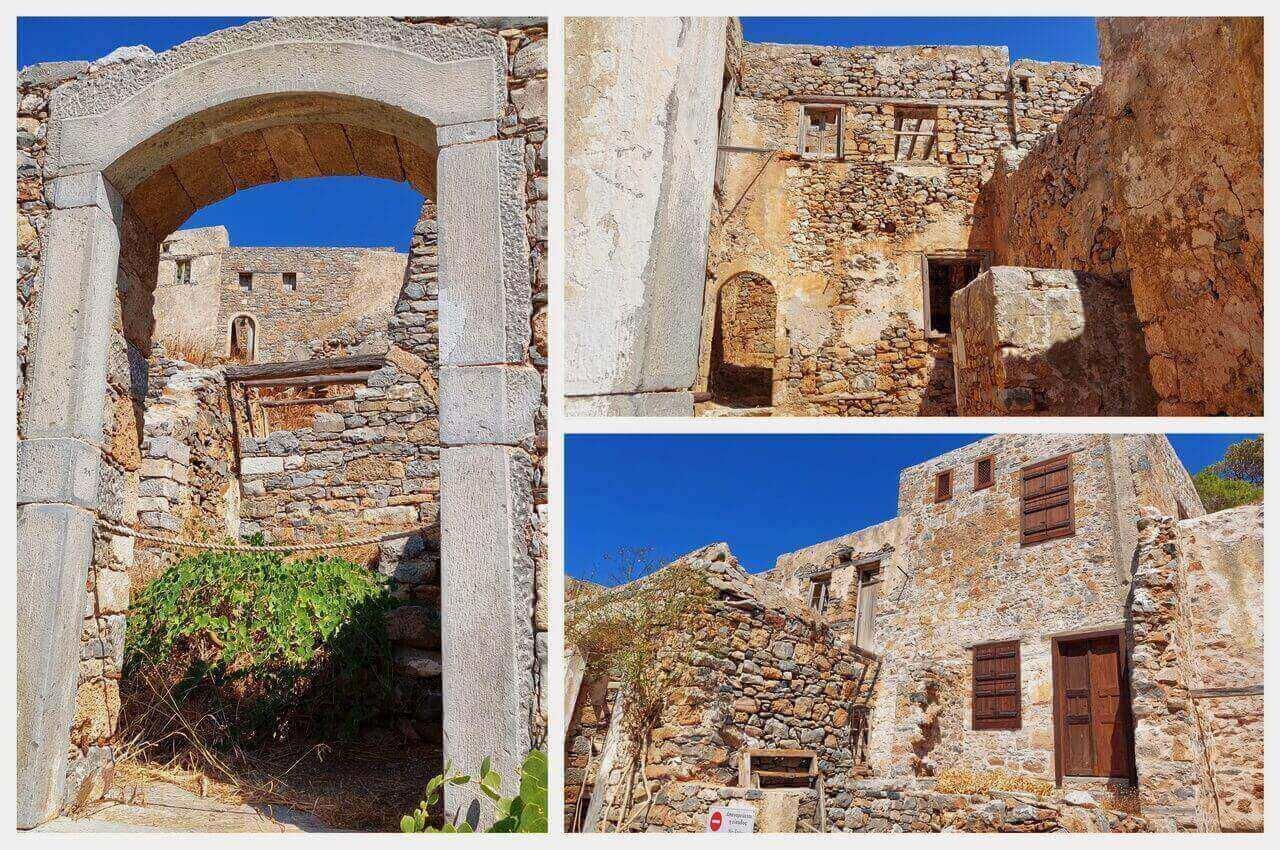 Spinalonga, ruined houses