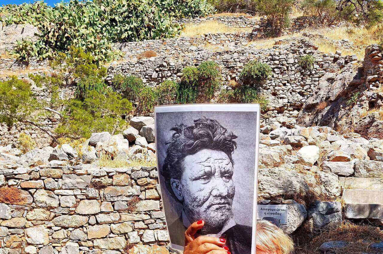 Spinalonga, the face of the leper man